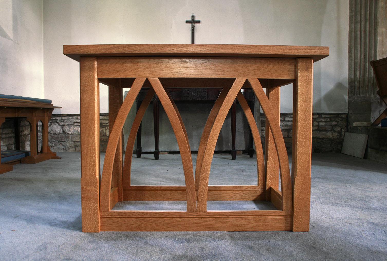English oak altar somerset, arbor furniture