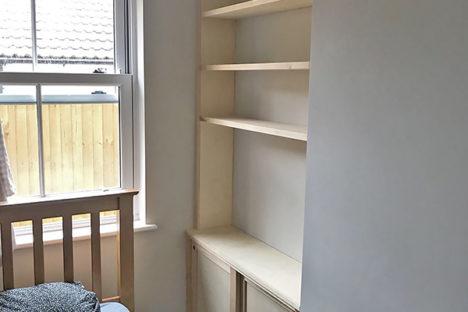 Maple & Birch Built in Alcove Cupboard