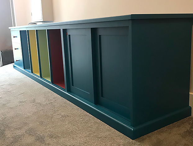 Bespoke furniture Bristol, furniture maker bristol, cloak room