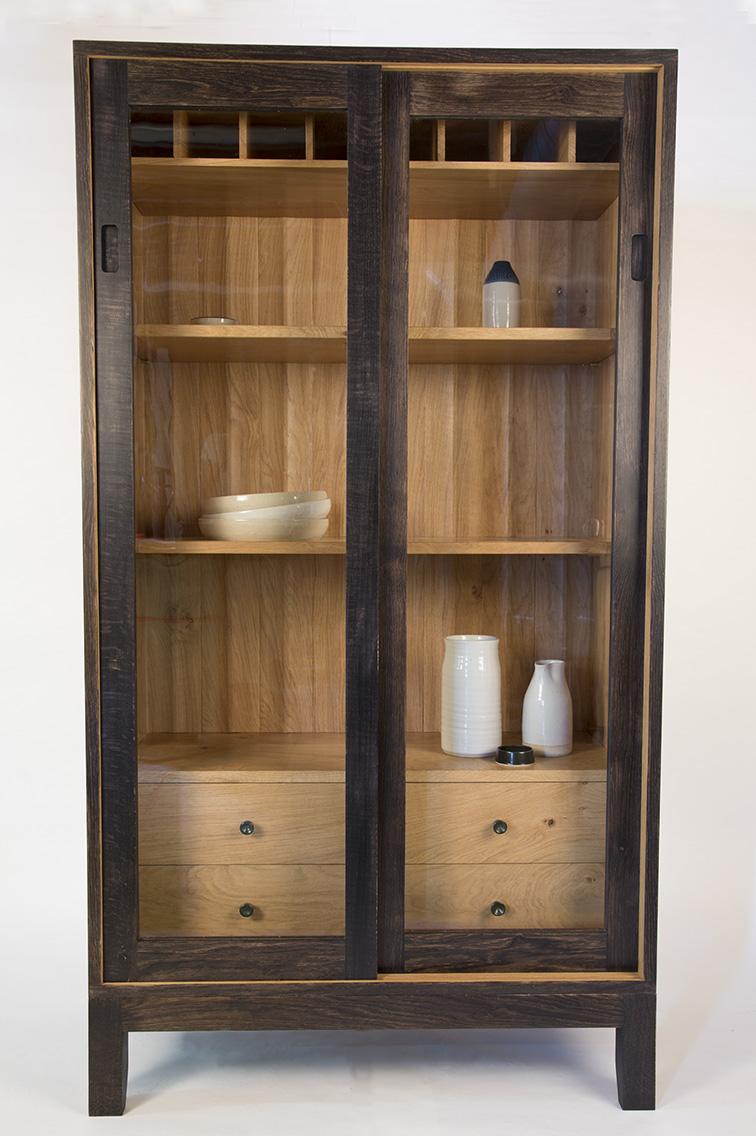 arbor furniture, bristol, furniture maker, oak cabinet, bespoke cabinet, kitchen cabinet, display cabinet, london