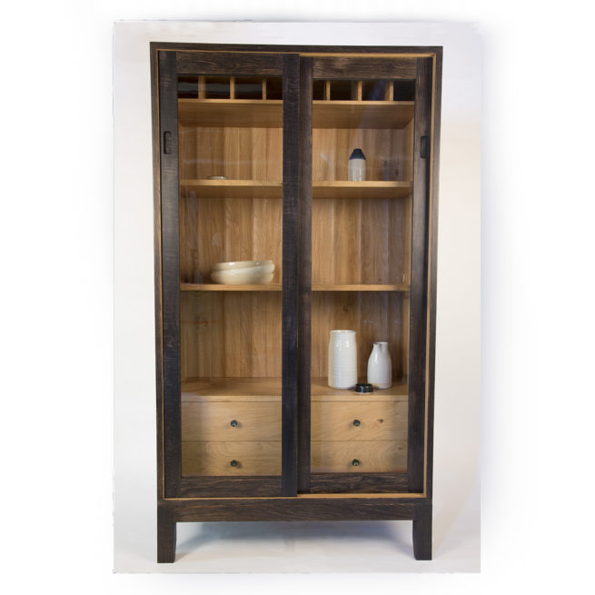 furniture maker bristol, furniture maker, cabinet maker, english oak, arbor furniture, ebonised oak, display cabinet