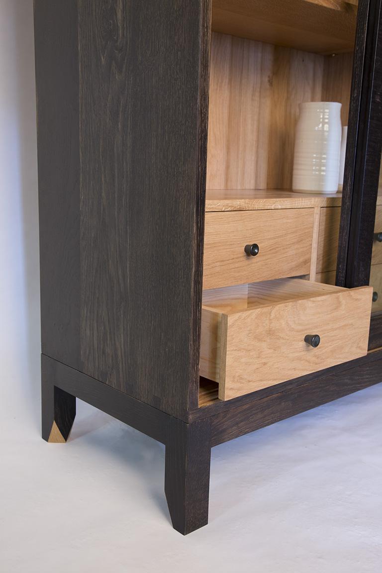 furniture maker bristol, arbor furniture, oak cabinet, kitchen cabinet, bespoke kitchen, ebonised oak, bristol, london, bath, somerset, furniture