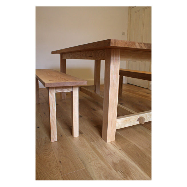 furniture maker bristol, bespoke table, english oak, dining table, arbor furniture, bath, somerset