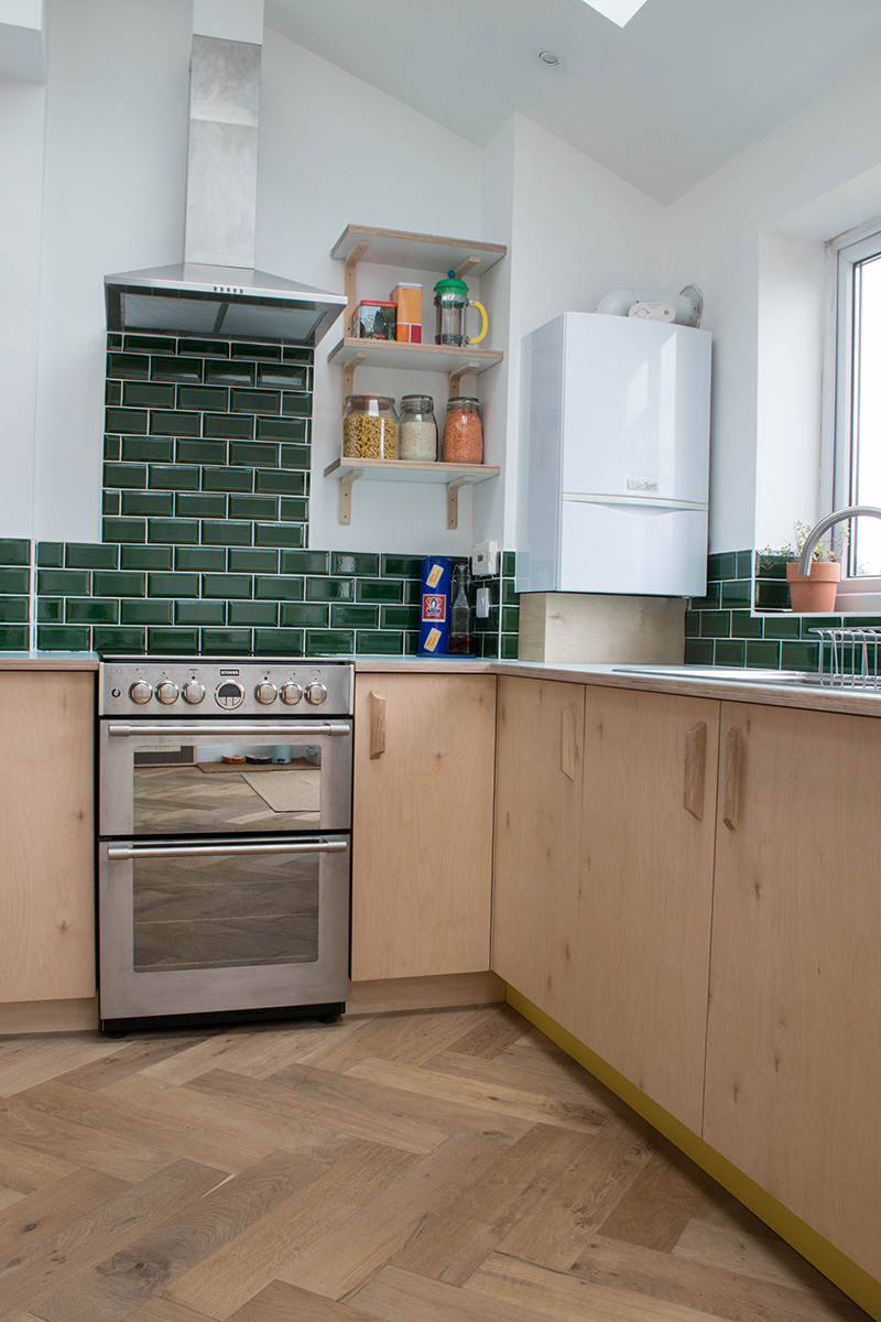 birch plywood kitchen bristol, bespoke kitchen bristol, furniture maker