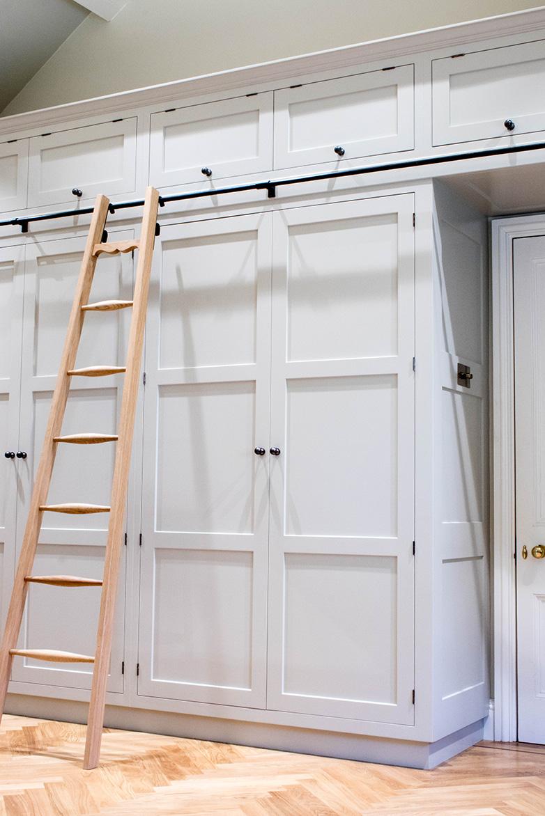 fitted wardrobe bristol, wardrobe ladder, furniture maker bristol