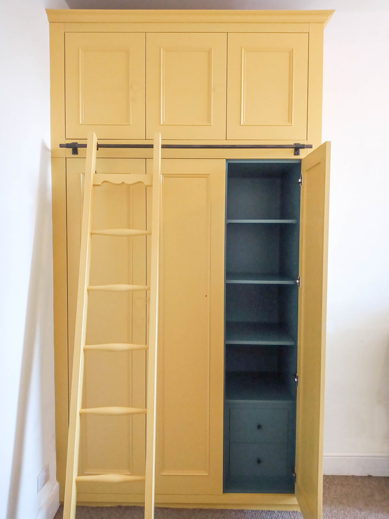 built in wardrobe bristol, fitted wardrobe, wardrobe ladder, furniture maker